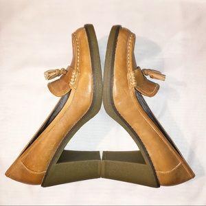 Tommy Hilfiger Vintage Boho Leather Loafer Heels
